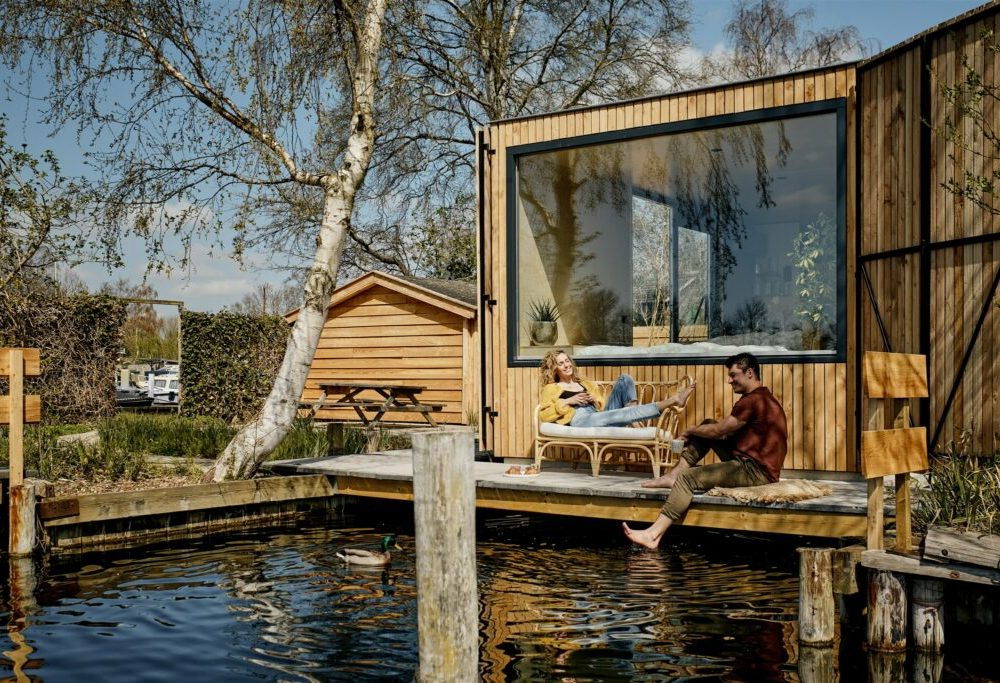 vakantiehuisje met hottub